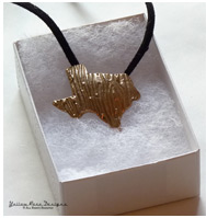 Bronze PMC Texas Pendant