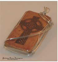 Celtic Cross Digital Design Domino Pendant