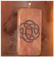 Celtic Knot Digital Design Domino Pendant