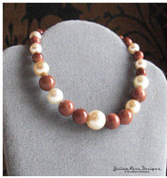 Glass Pearl and Goldstone Beaded Bracelet